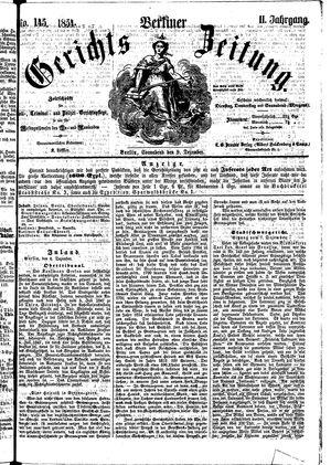 Berliner Gerichts-Zeitung vom 09.12.1854