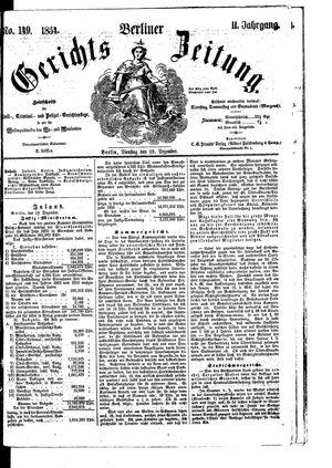 Berliner Gerichts-Zeitung vom 19.12.1854