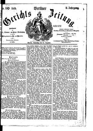Berliner Gerichts-Zeitung on Dec 21, 1854