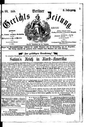 Berliner Gerichts-Zeitung vom 23.12.1854