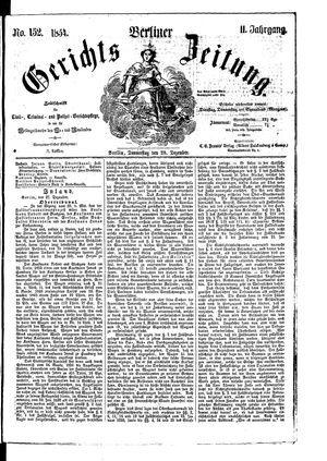 Berliner Gerichts-Zeitung on Dec 28, 1854
