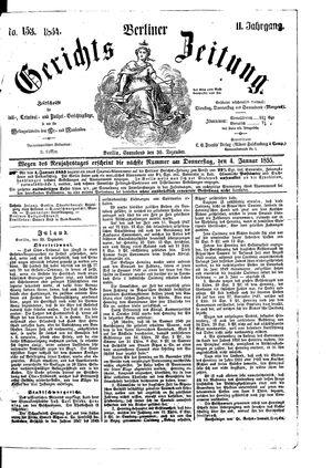 Berliner Gerichts-Zeitung on Dec 30, 1854