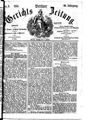 Berliner Gerichts-Zeitung on Jan 9, 1855