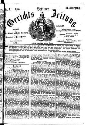 Berliner Gerichts-Zeitung vom 11.01.1855