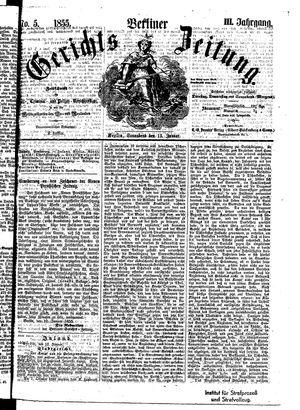Berliner Gerichts-Zeitung vom 13.01.1855
