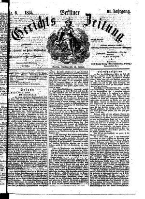 Berliner Gerichts-Zeitung vom 16.01.1855