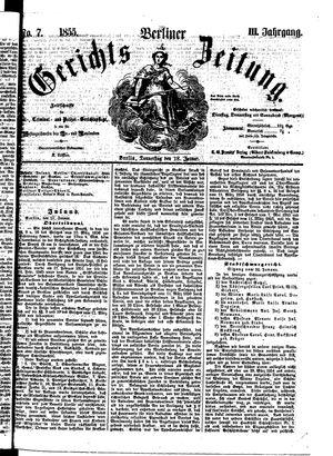 Berliner Gerichts-Zeitung vom 18.01.1855