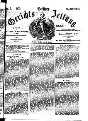 Berliner Gerichts-Zeitung on Jan 23, 1855