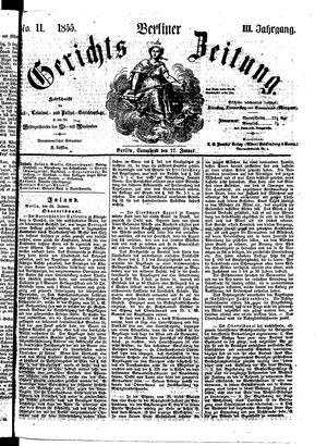 Berliner Gerichts-Zeitung on Jan 27, 1855