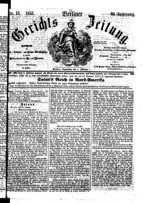 Berliner Gerichts-Zeitung vom 01.02.1855