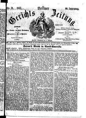 Berliner Gerichts-Zeitung vom 03.02.1855