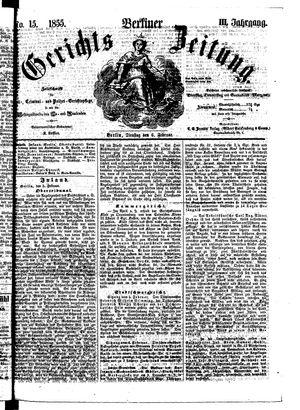 Berliner Gerichts-Zeitung vom 06.02.1855