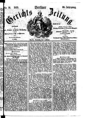 Berliner Gerichts-Zeitung vom 08.02.1855