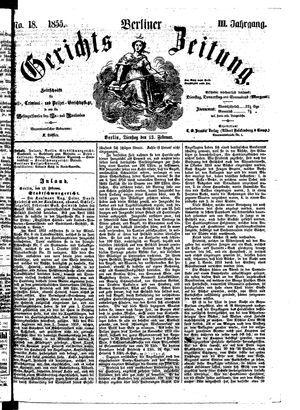 Berliner Gerichts-Zeitung vom 13.02.1855