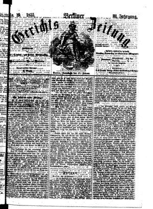 Berliner Gerichts-Zeitung vom 17.02.1855