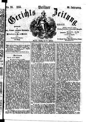 Berliner Gerichts-Zeitung vom 20.02.1855