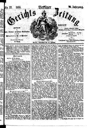 Berliner Gerichts-Zeitung vom 24.02.1855
