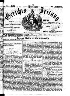 Berliner Gerichts-Zeitung vom 27.02.1855