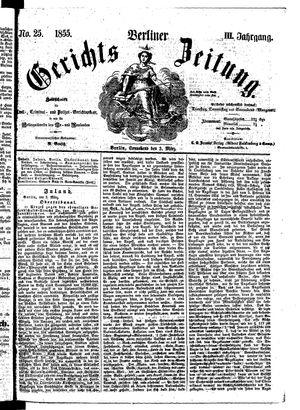 Berliner Gerichts-Zeitung vom 03.03.1855