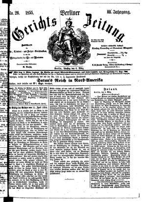 Berliner Gerichts-Zeitung vom 06.03.1855