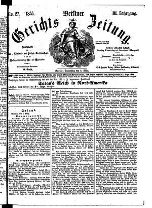 Berliner Gerichts-Zeitung on Mar 8, 1855