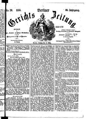 Berliner Gerichts-Zeitung vom 13.03.1855