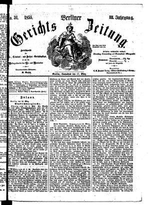 Berliner Gerichts-Zeitung vom 17.03.1855
