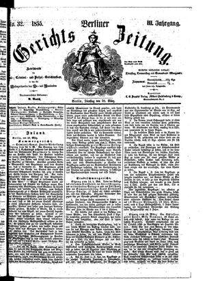 Berliner Gerichts-Zeitung vom 20.03.1855