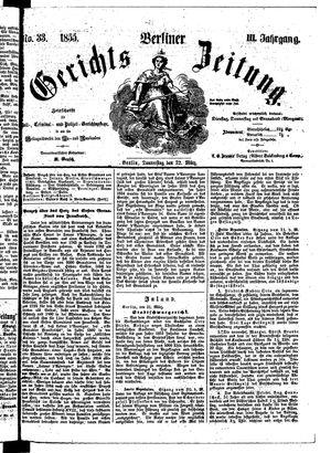 Berliner Gerichts-Zeitung vom 22.03.1855