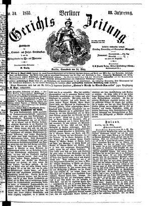Berliner Gerichts-Zeitung vom 24.03.1855