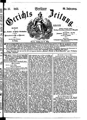 Berliner Gerichts-Zeitung vom 27.03.1855