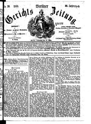 Berliner Gerichts-Zeitung vom 29.03.1855