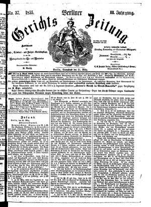 Berliner Gerichts-Zeitung vom 31.03.1855