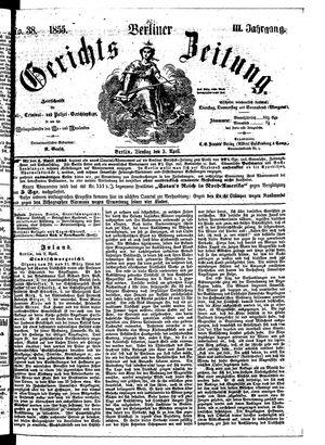 Berliner Gerichts-Zeitung vom 03.04.1855