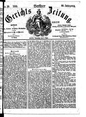 Berliner Gerichts-Zeitung vom 05.04.1855