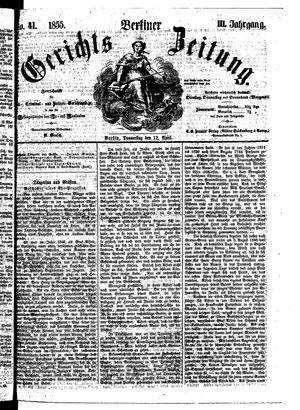 Berliner Gerichts-Zeitung vom 12.04.1855
