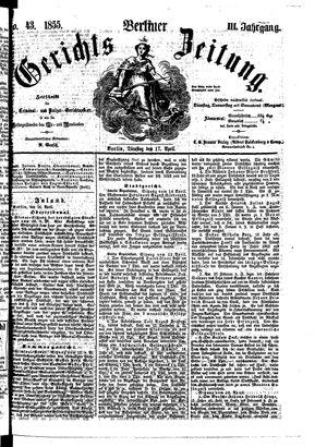 Berliner Gerichts-Zeitung vom 17.04.1855
