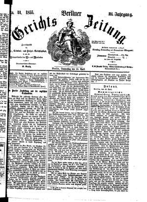 Berliner Gerichts-Zeitung vom 19.04.1855