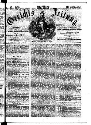 Berliner Gerichts-Zeitung vom 21.04.1855