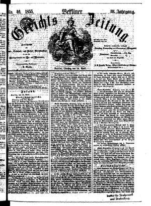 Berliner Gerichts-Zeitung vom 24.04.1855