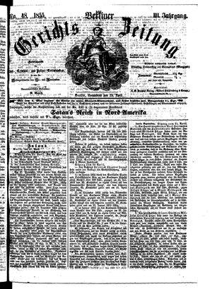 Berliner Gerichts-Zeitung vom 28.04.1855