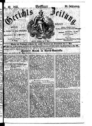 Berliner Gerichts-Zeitung vom 01.05.1855