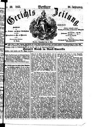 Berliner Gerichts-Zeitung vom 05.05.1855