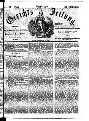 Berliner Gerichts-Zeitung on May 8, 1855