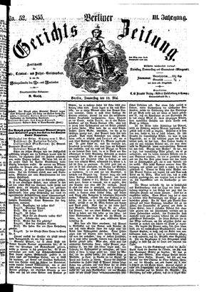 Berliner Gerichts-Zeitung vom 10.05.1855