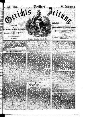 Berliner Gerichts-Zeitung vom 12.05.1855