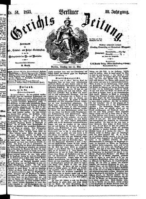 Berliner Gerichts-Zeitung vom 15.05.1855