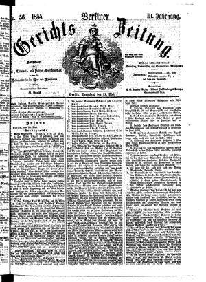 Berliner Gerichts-Zeitung vom 19.05.1855