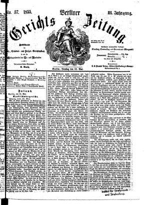 Berliner Gerichts-Zeitung vom 22.05.1855