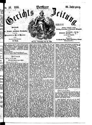 Berliner Gerichts-Zeitung vom 24.05.1855